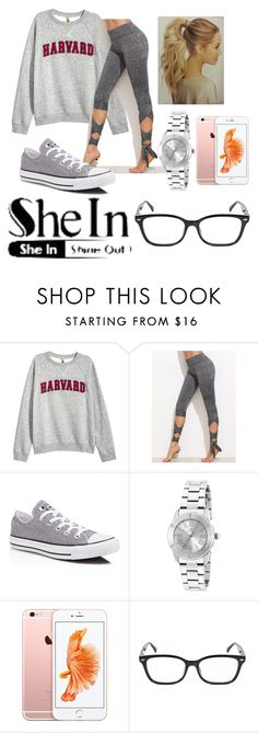 """""""Untitled #204"""" by alcopeland ❤ liked on Polyvore featuring H&M, Converse and Invicta"""