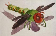 "Daily Paintworks - ""Dragonfly"" - Original Fine Art for Sale - © Priscilla Bohlen"