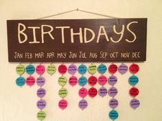 Birthday/Anniversary Reminder Board by definebliss on Etsy, $50.00
