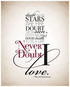 william shakespeare doth not doubt love - Google Search