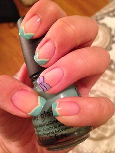 princess Ariel nails disney nails