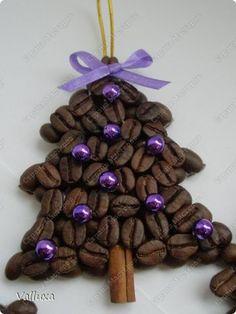 Декор предметов Новый год Моделирование конструирование Новогоднии кофейные елочки Продукты пищевые фото 7