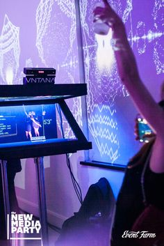 Hologram selfies? Yup—an attendee favorite from Event Farm's New Media Party. #EventTech #Experiential Marketing
