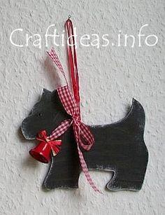 how to make a scottie dog Christmas ornament