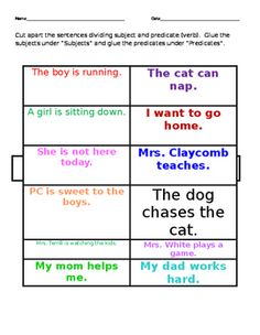 Browse simple subject and simple predicate resources on Teachers Pay Teachers, a marketplace trusted by millions of teachers for original educational resources. Simple Subject And Predicate, Sentence Strips, Special Needs, Teacher Pay Teachers, Teaching Resources, Sentences, Worksheets, Nautical, Frases