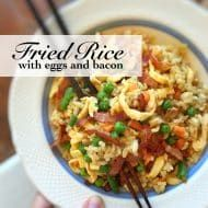 Bacon Fried Rice with Eggs Recipe Egg Recipes, Asian Recipes, Fried Rice With Egg, Bacon Fries, Leek Soup, Tasty, Yummy Food, Avocado, Eggs