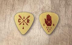 Chasing Arrows and Hidden Hand guitar picks