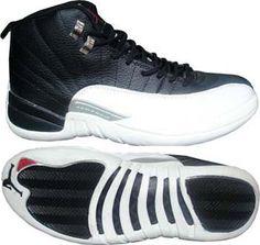 Air Jordan 12 Retro Playoffs Black White Silver Jordan 12 Shoes, Air Jordan 12 Retro, Air Jordans, Adidas Sneakers, Black And White, Hats, Silver, Style, Fashion