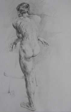 Classical Model: drawn from life charcoal pencil on A1 size paper more work at www.smokingbrushfineart.com