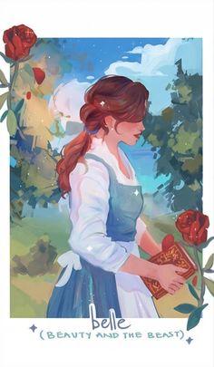 Disney Princess Drawings, Disney Princess Art, Disney Drawings, Disney Princess Paintings, Princess Belle, Disney Artwork, Disney Fan Art, Disney And Dreamworks, Disney Pixar