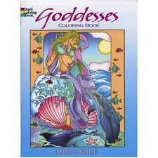 Coloring Book for Adults Beautiful Goddesses Relax Art Anti Stress Figure Design
