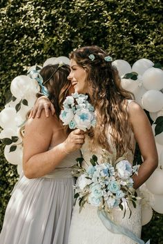 Paper Wedding Flowers in blue and white with peonies and roses. Bridesmaid and bride's bouquer bespoke made from paper by Petal & Bird Paper Florist. Paper Flowers Wedding, Wedding Paper, Wedding Bouquets, Peach Bouquet, Flower Girl Bouquet, Wedding Company, Seaside Wedding, Amazing Weddings, Brides And Bridesmaids