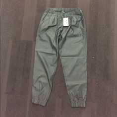 Leather look jogging pants Faux leather look jogger pants with 2 pockets brand new Sparkle & Fade Pants Track Pants & Joggers