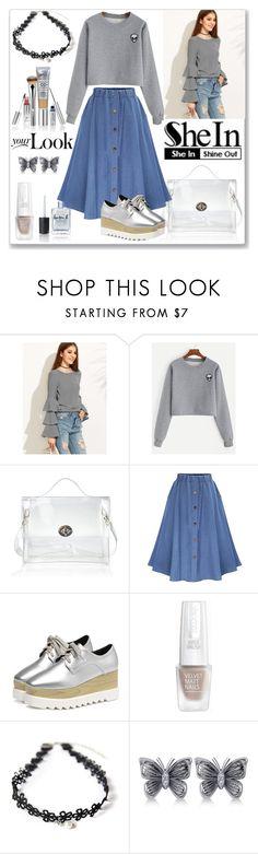"""Shein Grey Sweatshirt"" by liudmyla-stoian ❤ liked on Polyvore featuring Allurez and Lauren B. Beauty"