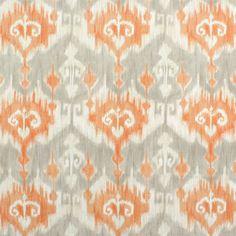 Richloom Marlena Orange Drapery Panels-Ikat by MyHauteStuff