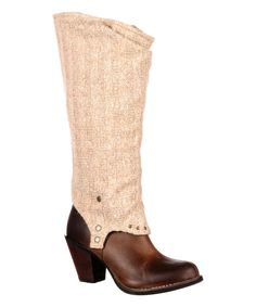 Look at this Durango Brown Leather Convertible Boot on #zulily today!