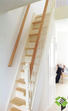 white and pine spacesaver stairbox