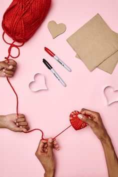 Easy Valentine's Day kids' craft. Spend a fun crafternoon with the kiddos creating this easy Valentine's Day heart pin. Easy and fun for kids of all ages, you can make it with materials you have on hand, or find what you need at Walmart. See more at Walmart.com