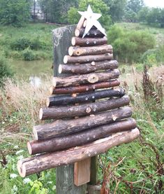 Rustic Primitive Outdoor Wood Christmas Tree - Handcrafted From Reclaimed Barn…