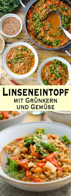 Dieses Linseneintopf / Linsensuppe ist ein perfektes Wohlfühlgericht, das auch am Tag danach noch gut schmeckt. Einfach, voller Aromen und voll gepackt mit Nährstoffen. Einfache Gesunde Rezepte - Elle Republic