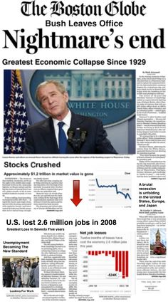 Let us never forget the republican idiot that deregulated wallstreet. We do not need to repeat this nightmare. Vote Nov 4th 2014 against republican incompetence.