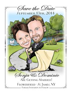 Caricature Save-the-Dates - Cards, Magnets, and Invitations