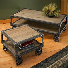 Rustic Industrial Cart Tables  |  Wild Wings