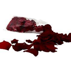 Streudeko echte Rosenblätter in Bordeaux