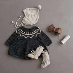 shopminikin - Misha and Puff ZigZag Tunic Dress, Charcoal Knitting For Kids, Baby Knitting, Baby Girl Fashion, Kids Fashion, Zig Zag Dress, Misha And Puff, Vide Dressing, Kids Wardrobe, Cute Outfits For Kids