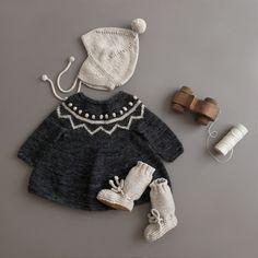 shopminikin - Misha and Puff ZigZag Tunic Dress, Charcoal
