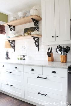 Another awesome feature of Ikea cabinets are these huge lower drawers than pull completely out and have soft-close hinges.  LOVE!