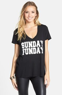 PST by Project Social T 'Sunday Funday' Graphic Tee (Juniors) | Nordstrom
