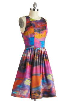 Plenty by Tracy Reese Riveting Reflections Dress, #ModCloth -- Perfect for a party, a shower, a daytime wedding -- or anywhere that you want a wash of gorgeous color