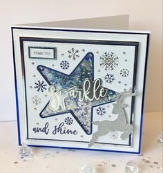 Stamped Christmas Cards, Handmade Christmas, Christmas Diy, Xmas, Chloes Creative Cards, Stamps By Chloe, Tattered Lace Cards, Star Cards, Christmas Inspiration