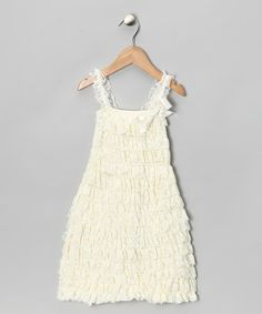 This Ivory Lace Ruffle Dress - Infant, Toddler & Girls is perfect! #zulilyfinds