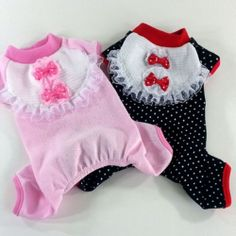 DOG Clothes ALL IN ONE Suits With Lace Pajama G314 | eBay