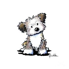 Havanese Puppy by Kim Niles - Havanese Puppy Drawing - Havanese ... - Tap the pin for the most adorable pawtastic fur baby apparel! You'll love the dog clothes and cat clothes! <3