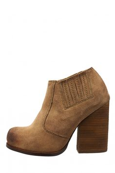 Jeffrey Campbell Shoes YORKTOWN Heels in Taupe Distressed Suede