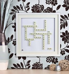 Personalised Scrabble® Art from notonthehighstreet.com