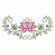 Pretty on quilts, pillows, and more! Embroidery Works, Simple Embroidery, Machine Embroidery Patterns, Custom Embroidery, Beaded Embroidery, Embroidery Stitches, Disney Drawing Tutorial, Border Embroidery Designs, Hand Applique