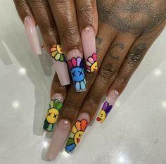 Halloween Acrylic Nails, Bling Acrylic Nails, Acrylic Nails Coffin Short, Square Acrylic Nails, Best Acrylic Nails, Coffin Nails, Nail Design Stiletto, Nail Design Glitter, Nails Design