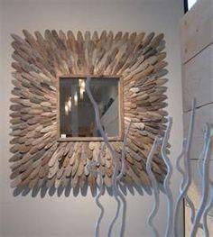 vierkante spiegel, op een verticale manier gemaakt