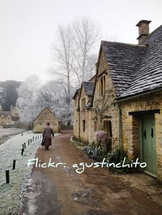 """Bibury in December"" by agustinchito on Flickr - The photographer wishes to apologize to everybody who from now on sees this photo with a watermark.  He stated this because so many people on TUMBLER are using this image without asking to use the image neither crediting the photographer for this photo."