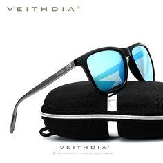 nice VEITHDIA Men's Aluminum TR90 Polarized Sunglasses Driving Sport 6018