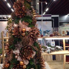 Echeveria tree! Alternative Christmas Tree, Echeveria, Christmas Trees, Holiday Decor, Home Decor, Xmas Trees, Homemade Home Decor, Decoration Home, Room Decor