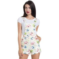 d8108ba917 Voodoo Vixen Hayley Play Suit Pink Blue Lime Happy Camper Shorts Romper  S-2X