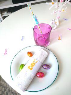 déco de Pâques - table de Pâques - ronds de serviette - marque-pailles - printable Pâques - pdf gratuit - by Humeur de moutard