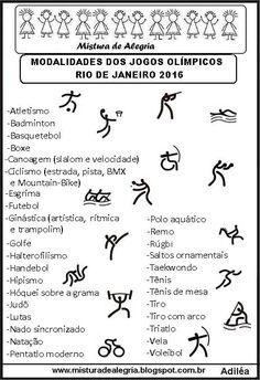 46e38a5546a5d LISTA DAS MODALIDADES DOS JOGOS OLÍMPICOS DE 2016