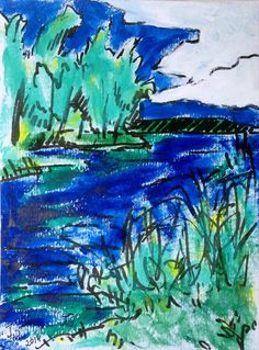 Original drawing marker and acrylics on paper One July by Talamasi, $40.00