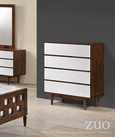Zuo LA High Chest Walnut & White – Modish Store